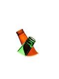 abstrakcjonistycznego tła piwna butelka Zdjęcia Royalty Free
