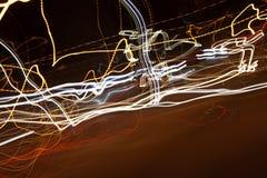 Abstrakcjonistycznego tła zamazana noc Zdjęcia Royalty Free