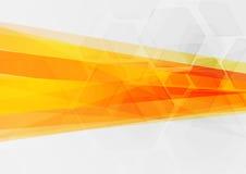Abstrakcjonistycznego techniki pojęcia pomarańczowy geometryczny tło Fotografia Stock