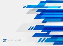Abstrakcjonistycznego technologia geometrycznego błękitnego koloru ruchu błyszczący tło royalty ilustracja