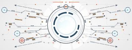 Abstrakcjonistycznego technologia okręgu obwodu cyfrowy kulisowy związek na cześć Obraz Stock