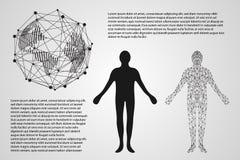 Abstrakcjonistycznego technologii pojęcia sieci światowy cyfrowy kulisowy connectio obraz royalty free