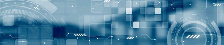 Abstrakcjonistycznego technologii pojęcia sieci chodnikowa przemysłowy sztandar royalty ilustracja