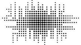 Abstrakcjonistycznego tekstury tła czarny i biały kropki ilustracji