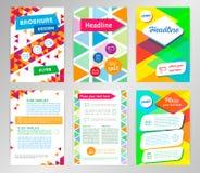 Abstrakcjonistycznego trójbok broszurki ulotki projekta wektorowy szablon w A4 si Obrazy Royalty Free