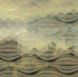 Abstrakcjonistycznego trójboka Geometrical Stubarwny tło, Wektorowa ilustracja EPS10 Zdjęcie Stock