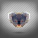 Abstrakcjonistycznego trójboka poligonalna zwierzęca koala ilustracji