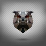 Abstrakcjonistycznego trójboka poligonalna zwierzęca sowa ilustracja wektor