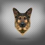 Abstrakcjonistycznego trójboka poligonalny zwierzę ilustracja wektor