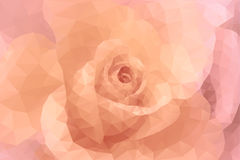 Abstrakcjonistycznego trójboka wieloboka kwiecistej mody różowy i beżowy ślubny tło Zdjęcia Royalty Free
