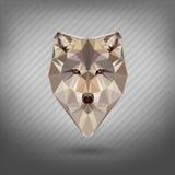 Abstrakcjonistycznego trójboka zwierzęcia poligonalny set ilustracja wektor