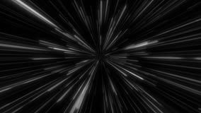 Abstrakcjonistycznego tunelowego prędkości światła starburst tła technologii dynamiczny pojęcie royalty ilustracja