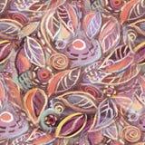 Abstrakcjonistycznego ulistnienia bezszwowy deseniowy tło Zdjęcie Stock
