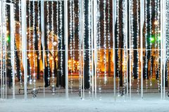 Abstrakcjonistycznego wakacyjnego tła piękny neonowy światło zdjęcia stock