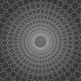 Abstrakcjonistycznego wektorowego projekta szary tło, linia i diament okrążać sieć, Fotografia Royalty Free