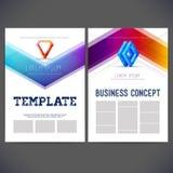 Abstrakcjonistycznego wektorowego szablonu projekta korporacyjny styl Zdjęcia Stock