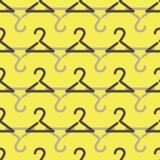 Abstrakcjonistycznego wektorowego sztuka żółtego wieszaka bezszwowy wzór royalty ilustracja