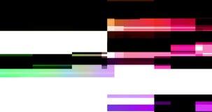 Abstrakcjonistycznego wielo- koloru usterki realistyczny parawanowy migotanie, analogowy rocznika TV sygnał z złą interferencją i ilustracji