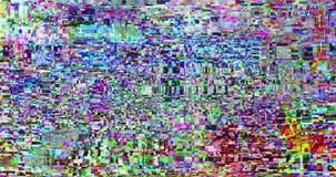 Abstrakcjonistycznego wielo- koloru usterki realistyczny parawanowy migotanie, analogowy rocznika TV sygnał z złą interferencją i zbiory
