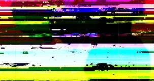 Abstrakcjonistycznego wielo- koloru usterki realistyczny parawanowy migotanie, analogowy rocznika TV sygna? z z?? interferencj? i zdjęcie wideo