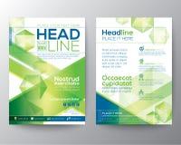 Abstrakcjonistycznego wieloboka projekta szablonu wektorowy układ dla magazyn broszurki ulotki Zdjęcie Stock
