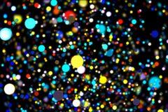 Abstrakcjonistycznego wizerunku tła rozjarzone cząsteczki Obrazy Stock