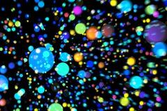 Abstrakcjonistycznego wizerunku tła rozjarzone cząsteczki Zdjęcie Royalty Free