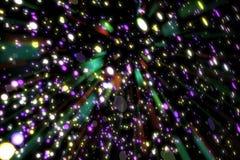 Abstrakcjonistycznego wizerunku tła rozjarzone cząsteczki Obraz Royalty Free