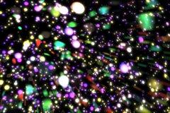 Abstrakcjonistycznego wizerunku tła rozjarzone cząsteczki Zdjęcie Stock