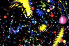 Abstrakcjonistycznego wizerunku tła rozjarzone cząsteczki Zdjęcia Stock