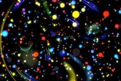 Abstrakcjonistycznego wizerunku tła rozjarzone cząsteczki Obrazy Royalty Free