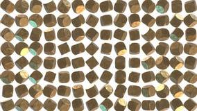 Abstrakcjonistycznego złotego sześcianu geometryczna powierzchnia zbiory wideo