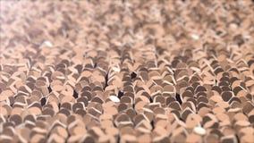 Abstrakcjonistycznego złotego sześcianu geometryczna powierzchnia zdjęcie wideo