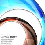 Abstrakcjonistycznego zawijasa błękitny i brown energetyczny okrąg Royalty Ilustracja