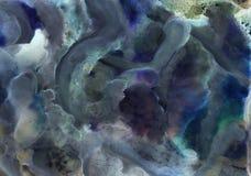 Abstrakcjonistycznej akwareli alkoholu inc t?a akrylowa tekstura fotografia stock