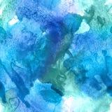 Abstrakcjonistycznej akwareli bezszwowy wzór Obraz Royalty Free