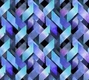 Abstrakcjonistycznej akwareli bezszwowy wzór ilustracji