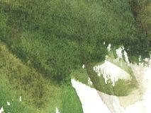 Abstrakcjonistycznej akwareli Mokry zielony tło z plamami Akwareli obmycie obraz abstrakcyjne royalty ilustracja