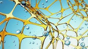 Abstrakcjonistycznej błękitne wody molekuły związany tło Abstrakcja, twórczości pojęcie świadczenia 3 d ilustracji