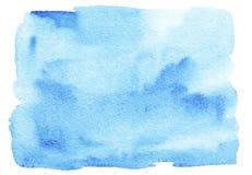 Abstrakcjonistycznej błękitnej akwareli zamazany tło Jaskrawy miękki gradientowy kolor ilustracja wektor