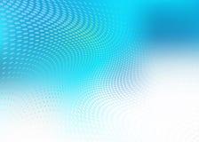 Abstrakcjonistycznej błękitnej kropki fala medyczny tło Fotografia Stock