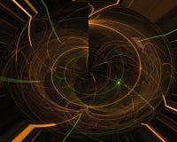 Abstrakcjonistycznej cyfrowej fractal flama elegancji nauki graficznej wyobraźni szablonu dekoracyjny projekt odpłaca się, energi royalty ilustracja