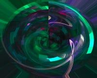 Abstrakcjonistycznej cyfrowej fractal przepływu elegancji ornamentu tła dynamiczny styl futurystyczny odpłaca się zawijas, ilustracji