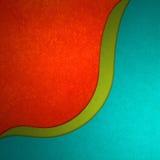 Abstrakcjonistycznej czerwieni zielony i błękitny tło z wyginającym się fala warstew projektem royalty ilustracja