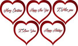 Abstrakcjonistycznej czerwonej walentynki miłości loga Kierowy wektor Zdjęcie Royalty Free