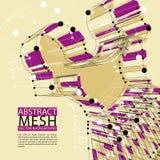Abstrakcjonistycznej 3d siatki wektorowy tło, konceptualny Zdjęcia Stock