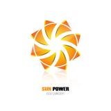 Abstrakcjonistycznej eco słońca władzy projekta pojęcia loga symbolu ikony korporacyjnej tożsamości energetyczny projekt Zdjęcia Royalty Free