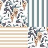 Abstrakcjonistycznej eleganci bezszwowy wzór z glicinia kwitnie backgro Zdjęcia Royalty Free