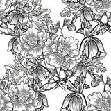 Abstrakcjonistycznej eleganci Bezszwowy wzór z kwiecistymi elementami Zdjęcie Royalty Free