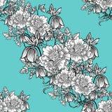Abstrakcjonistycznej eleganci Bezszwowy wzór z kwiecistymi elementami Obrazy Royalty Free
